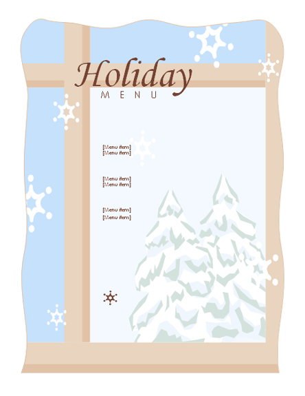 Christmas Menu Templates Microsoft Word Templates – Christmas Menu Word Template