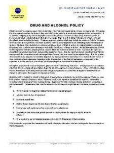 Drug and Alcohol Policy – Word Template – Microsoft Word Templates
