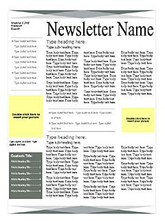 Green Gray Page Newsletter Word Templates Microsoft Word Templates - How to get newsletter templates on microsoft word