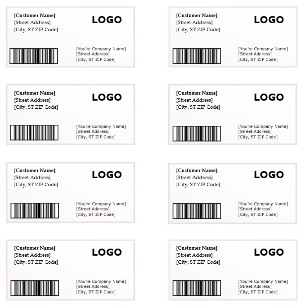 Word Shipping Label Template Geccetackletartsco - Shipping label template word