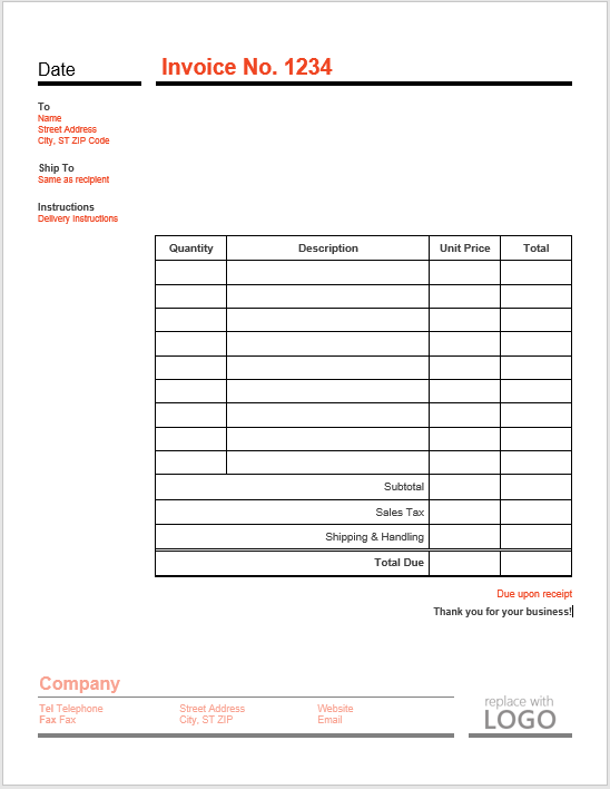 Free Invoice Templates Microsoft Word Templates - Nvoice template