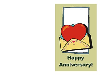 anniversary card template word