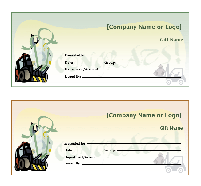 acheivement gift certificate template