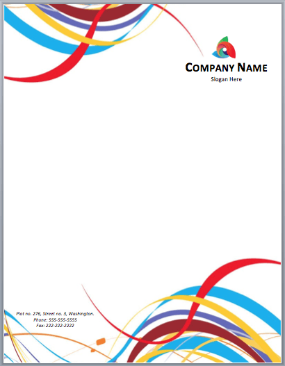 Color Letterhead Template. Download  Free Letterhead Templates Download
