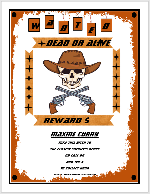 13 Free Wanted Poster Templates Printable Docs Microsoft Word – Wanted Posters Templates