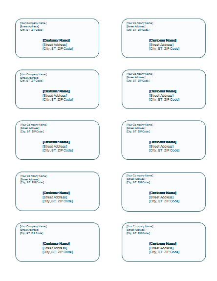 Free address label templates microsoft word templates for Free online address label templates