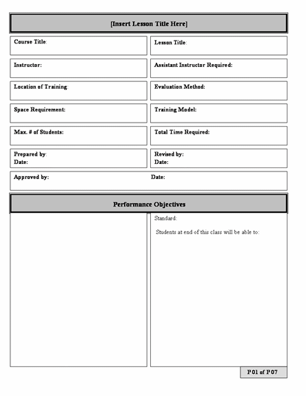 School Plan Template