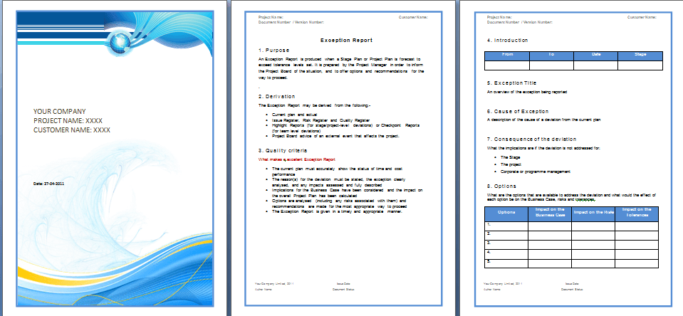 Business report template word flashek Gallery