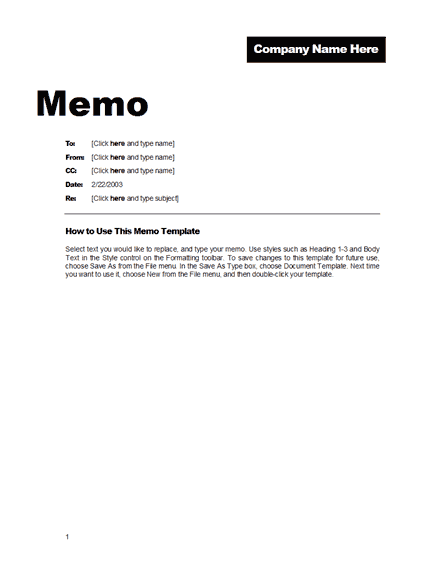 Memo Word Templates Microsoft Word Templates – Sample Memos