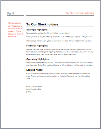 Report Format Template Word  Business Report Layout Example