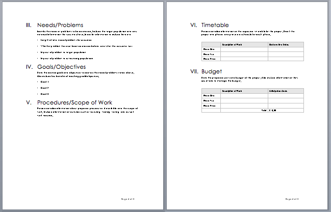 Project Proposal Template Microsoft Word Templates – Microsoft Word Proposal Template