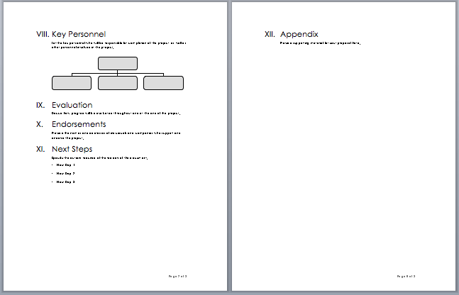 Project Proposal Template 3  Microsoft Word Proposal Templates