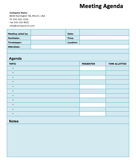 Basic Agenda Word Template Microsoft Word Templates – Microsoft Agenda Template