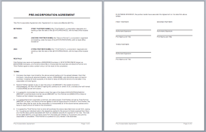 Partnership Contract Template  Investor Contract Template Free
