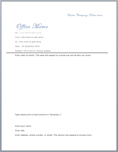 Office Memo Template