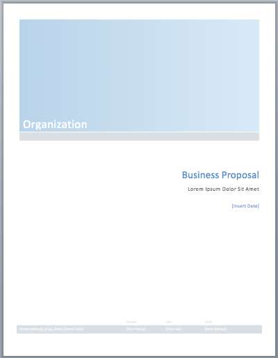 Business Proposal Template  Free Proposal Template Word