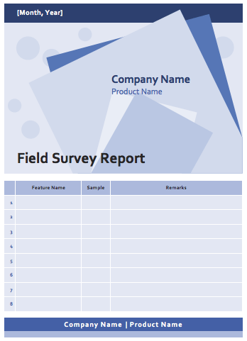 Field survey report template microsoft word templates field survey report template pronofoot35fo Images