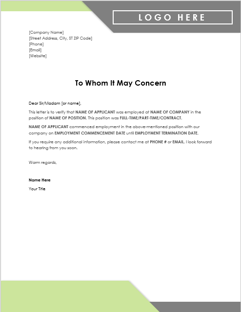 Letter Of Experience Template from www.wordtemplates.org