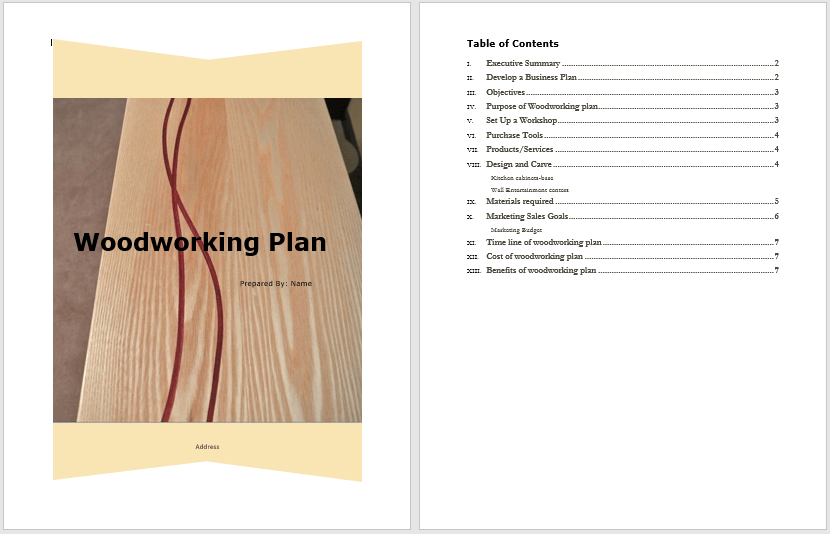 Woodworking Plan Template 1