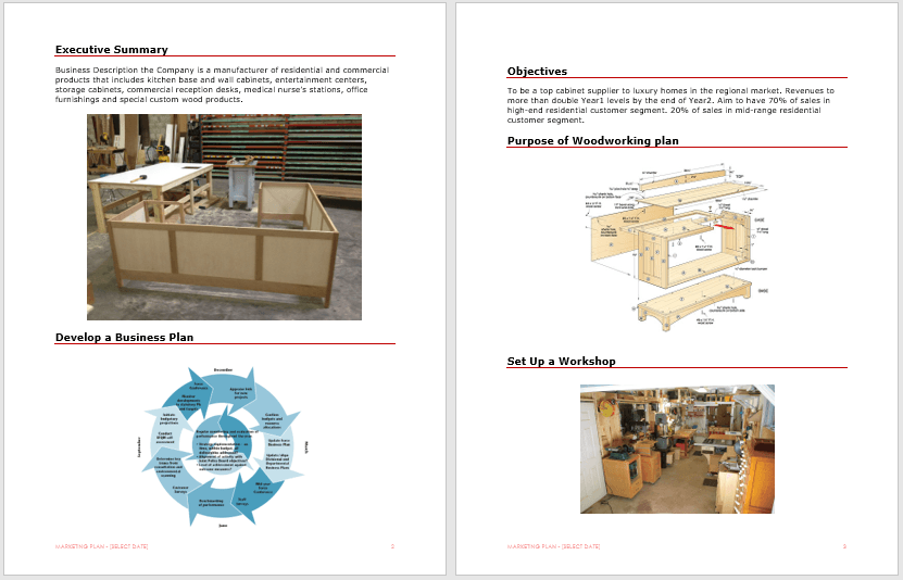 Woodworking Plan Template 2