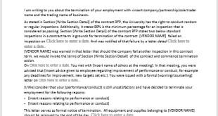 Dismissal Notice