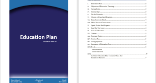 Education Plan Template