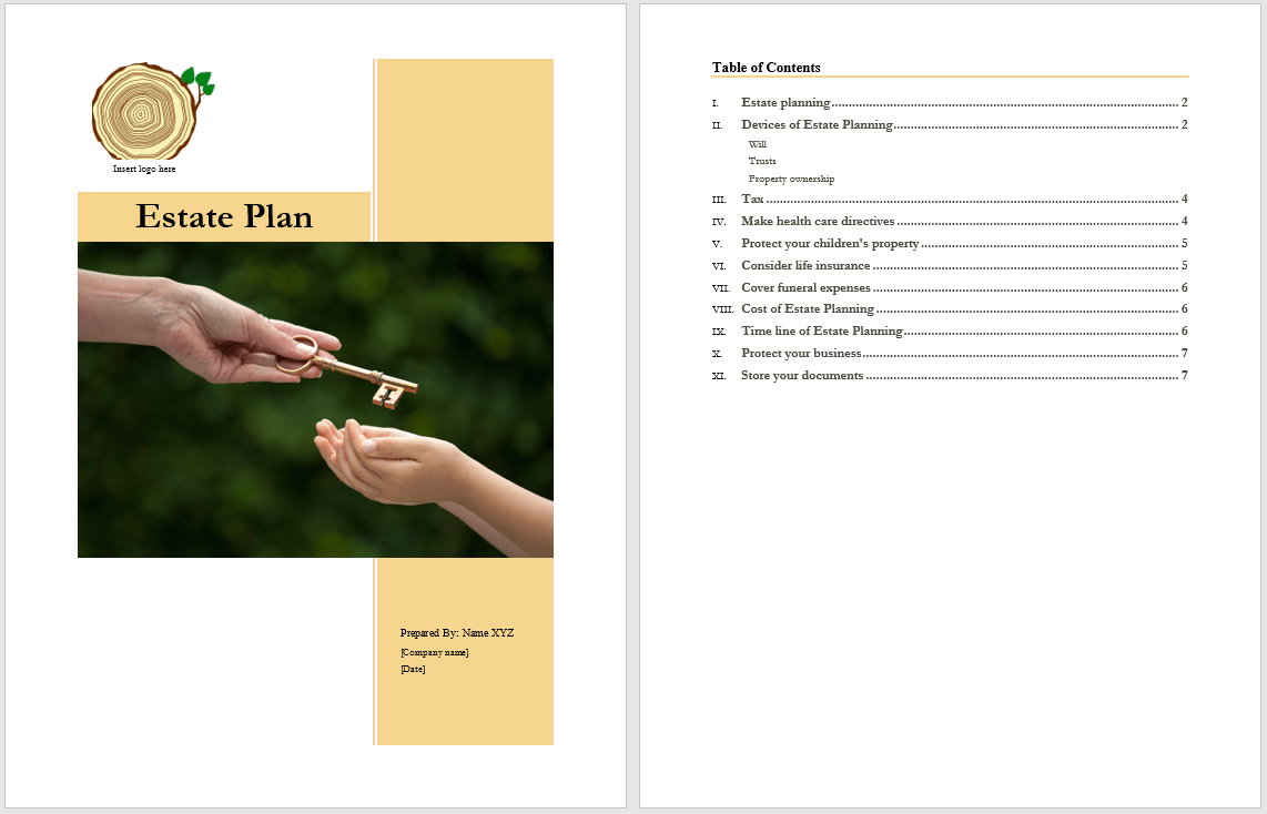 Estate Plan Template