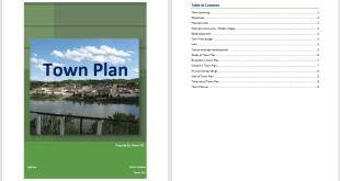 Town Plan Template