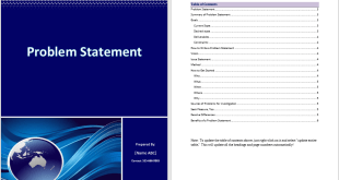 Problem Statement Template