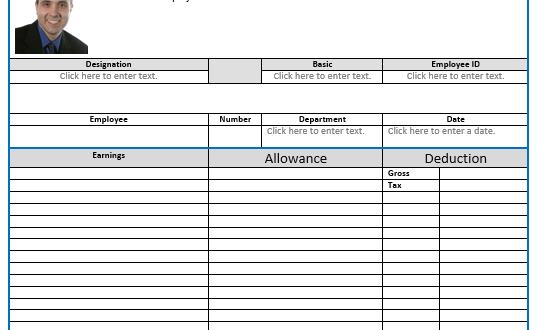 8 Salary Slip Format and Templates Microsoft Word Templates – Salary Receipt Template