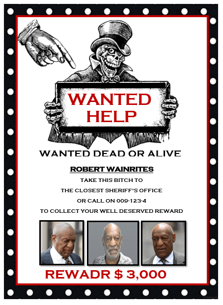 word wanted poster