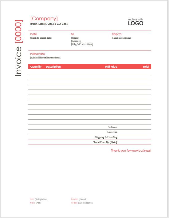 Invoice Template 04