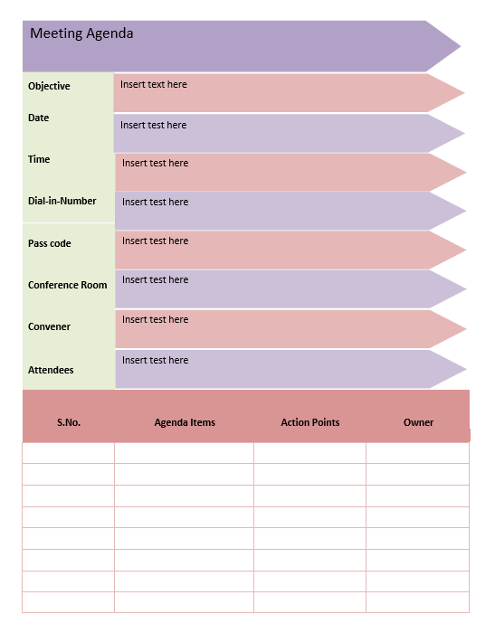 Meeting Agenda Template 4.1
