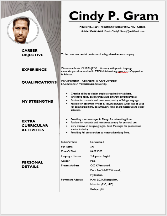 Creative Resume Template 01