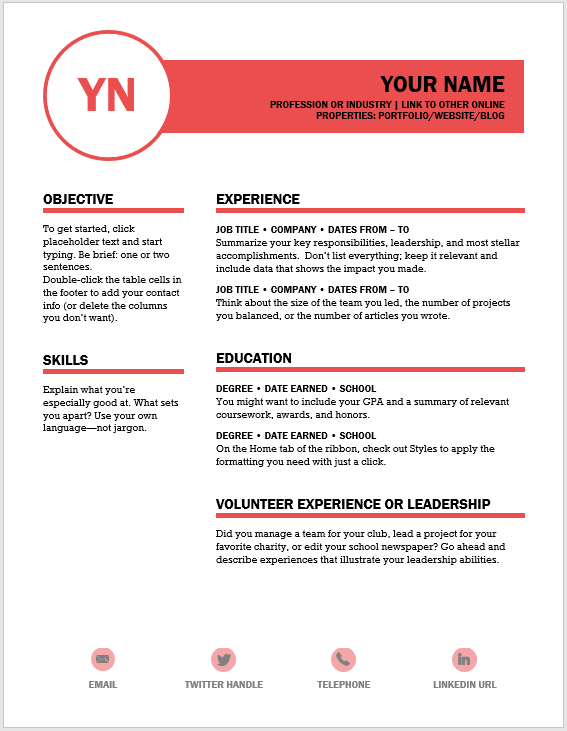 Creative Resume Template 07