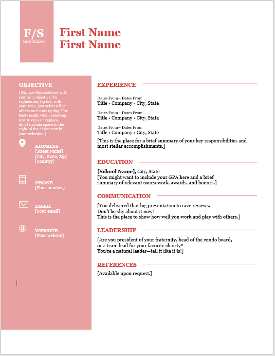 Creative Resume Template 08