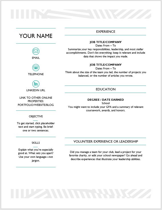 Creative Resume Template 09
