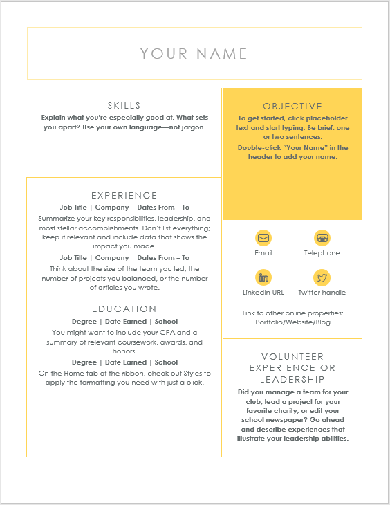 Creative Resume Template 10