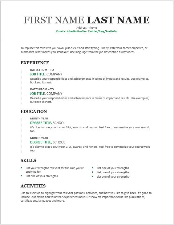 Modern Resume Template 01