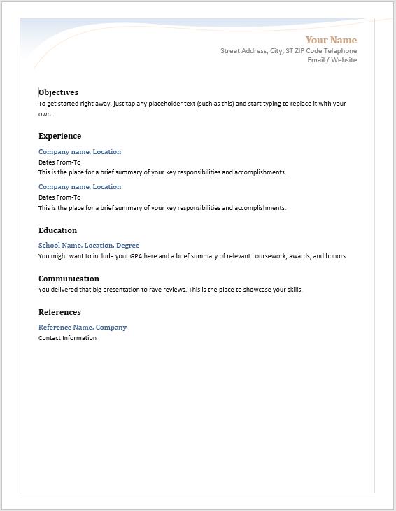 Modern Resume Template 02