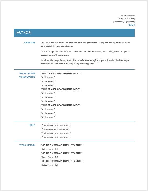 Modern Resume Template 03