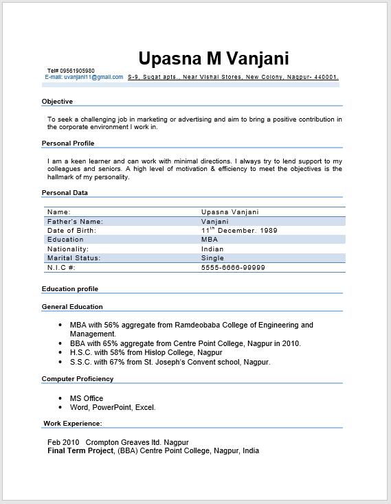 Modern Resume Template 07