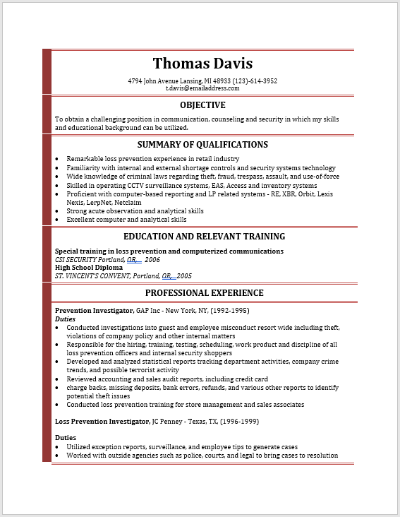 Modern Resume Template 10