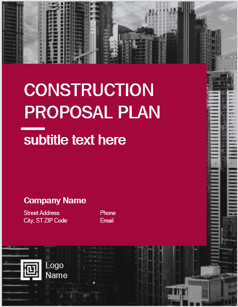 14 free construction proposal templates microsoft word templates