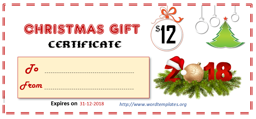Printable Gift Certificate Templates For 2018 15 Free Ms Word