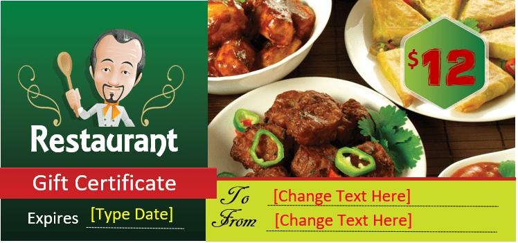 Restaurant Gift Certificate Template 2018 - 13