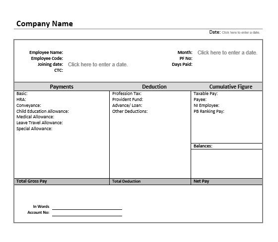 32 Salary Slip Format & Templates – Word Templates for Free