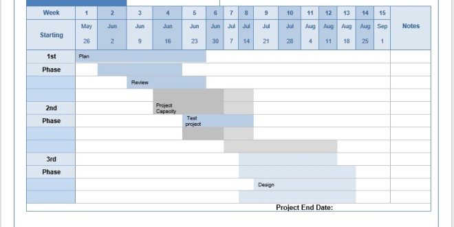 Microsoft Word Templates  Project Timetable Template