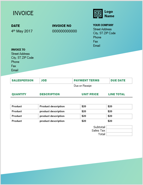 11 Free Invoice Templates Word Templates For Free Download