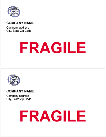 shipping labels template